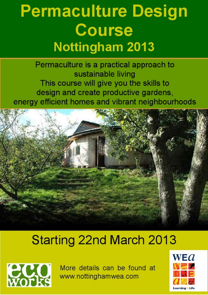 Permaculture Design Course Nottingham 2013